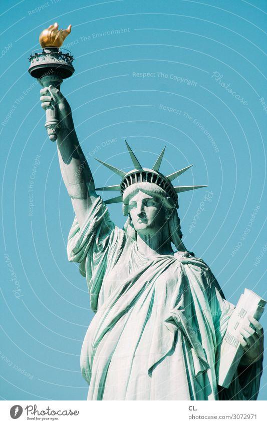 liberty enlightening the world Stadt Freiheit modern Kultur Schönes Wetter USA einzigartig Zeichen Sehenswürdigkeit Hoffnung Wahrzeichen Wolkenloser Himmel