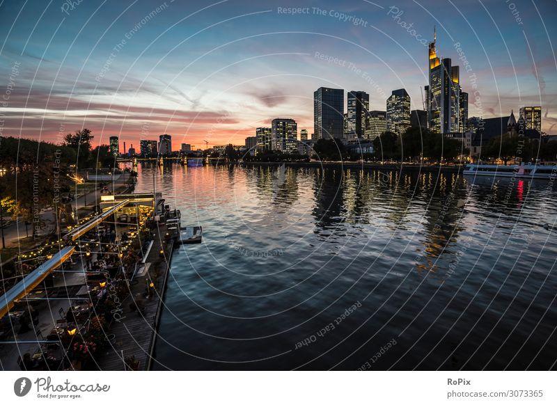 Sunsert in Frankfurt am Main Lifestyle Reichtum Design Ferien & Urlaub & Reisen Tourismus Ausflug Sightseeing Städtereise Sommer Sommerurlaub Nachtleben