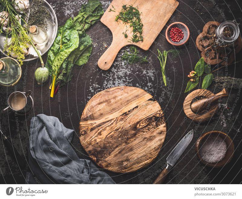 Kochen und Essen Hintergrund Lebensmittel Gemüse Suppe Eintopf Kräuter & Gewürze Öl Ernährung Bioprodukte Vegetarische Ernährung Diät Geschirr Stil Design