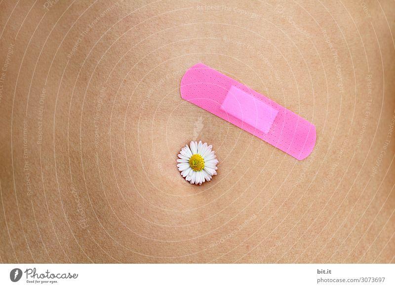 Hautsache l Pflaster oder Blume, was heilt schneller? Erholung ruhig Gesundheit Leben Zufriedenheit Wellness Wohlgefühl harmonisch Krankheit Meditation Arzt