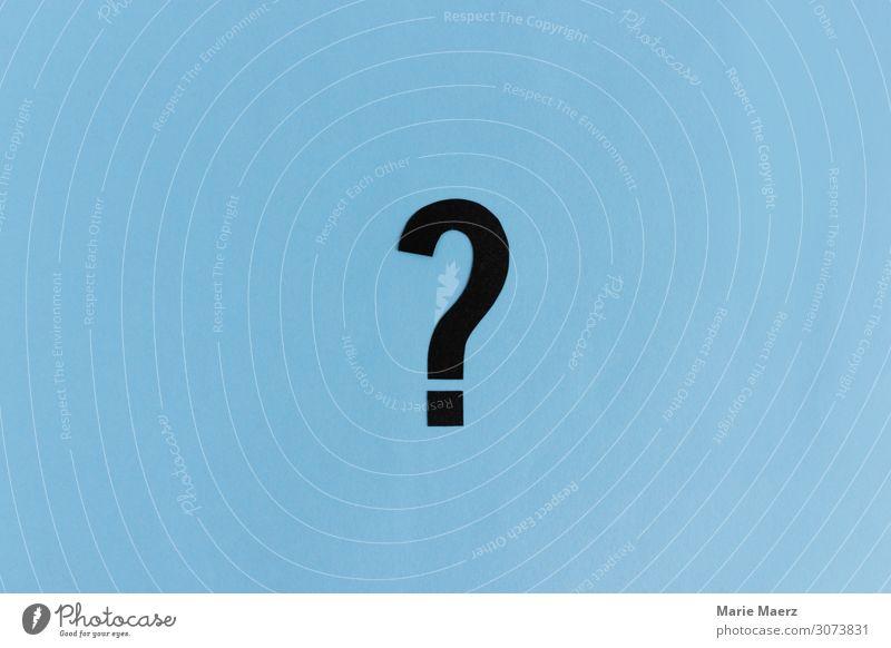 Großes Fragezeichen Bildung Wissenschaften Erwachsenenbildung Studium lernen sprechen Zeichen Schilder & Markierungen Beratung Neugier blau Interesse Idee