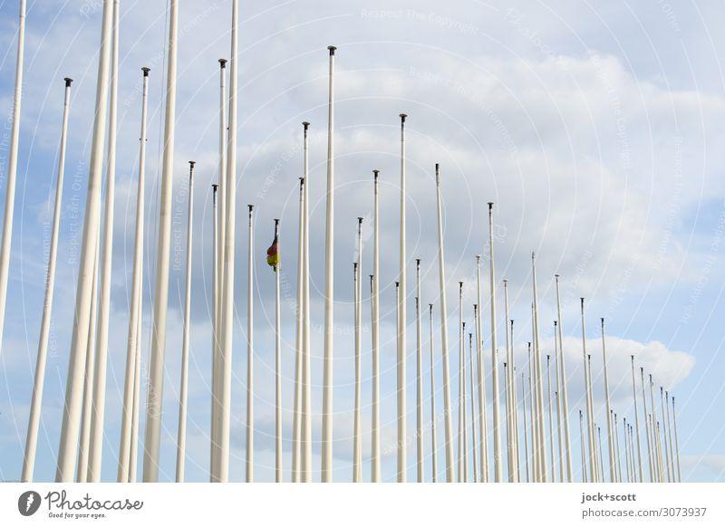 wehende Wolken Himmel Metall Linie dünn frei lang viele Wärme Stimmung ruhig Wahrheit ästhetisch gleich Ordnung Pause Vergänglichkeit Wandel & Veränderung