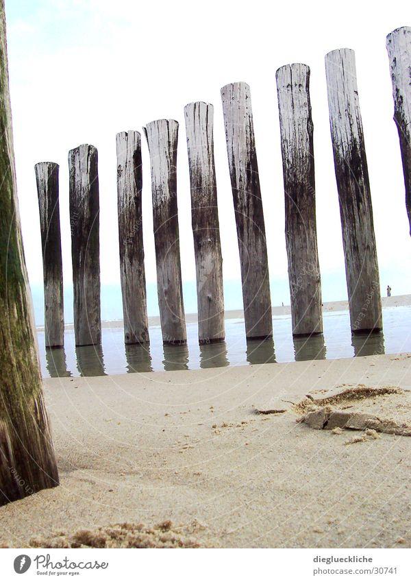 Strand Wasser Meer Holz