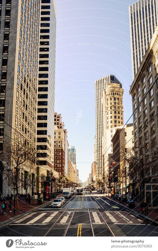 Golden City Ferien & Urlaub & Reisen Sightseeing Städtereise San Francisco Kalifornien Amerika USA Stadt Stadtzentrum Fußgängerzone Skyline überbevölkert