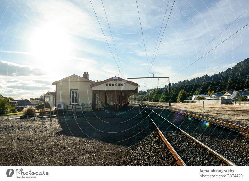 Ohakune Rail Station Ferien & Urlaub & Reisen Ausflug Abenteuer Ferne Neuseeland Dorf Bahnhof Bauwerk Gebäude Architektur Sehenswürdigkeit Wahrzeichen