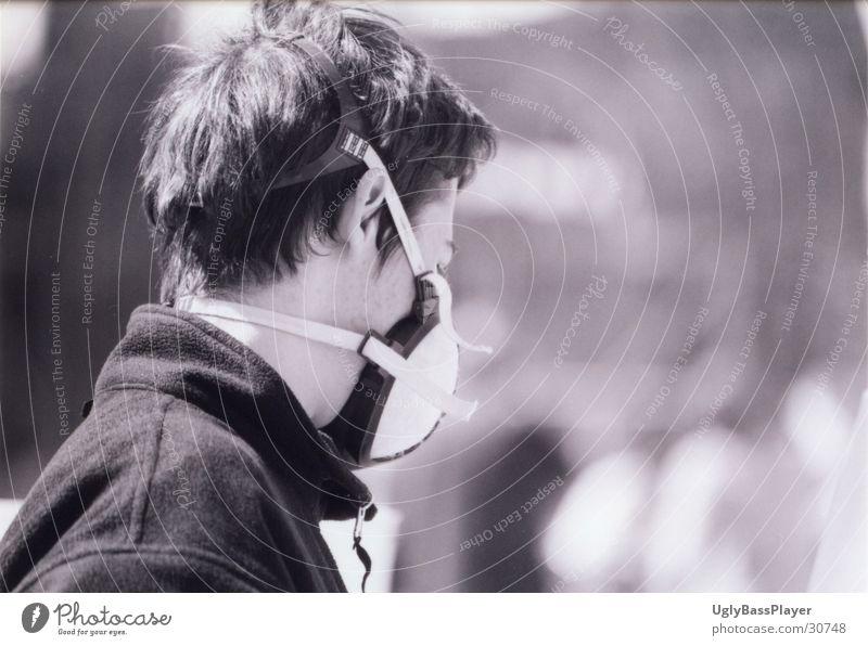 Sprayer Tagger Silhouette schwarz weiß Mann Maske Profil Kopf Jugendliche