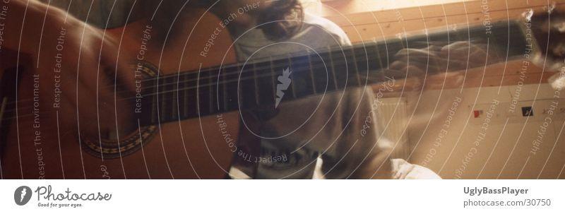 Gitarre Langzeitbelichtung Saite Griffbrett Musik Classical Gas