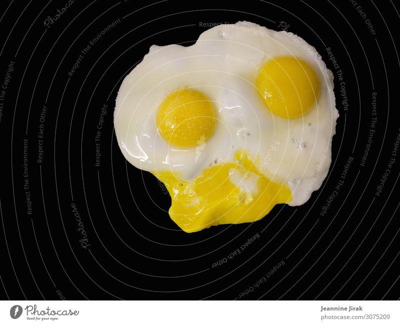 Der Donald Duck unter den Eierspeisen Lebensmittel Bioprodukte Gesunde Ernährung Fitness Tiergesicht Haushuhn nachhaltig Spiegelei Zwilling gesichtslos