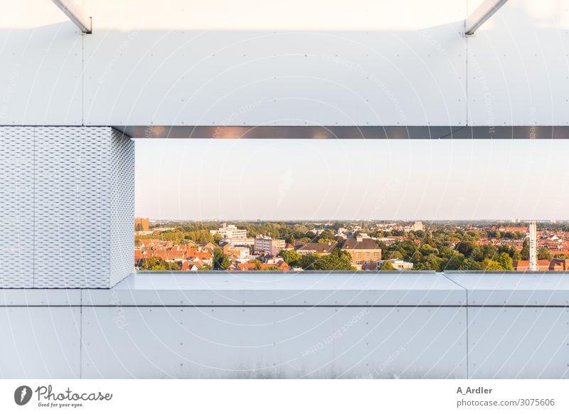 Durchblick Ferne Sommer Häusliches Leben Wohnung Haus Traumhaus Innenarchitektur Terrasse Balkon Dach Dachterrasse Business Natur Landschaft Luft Himmel