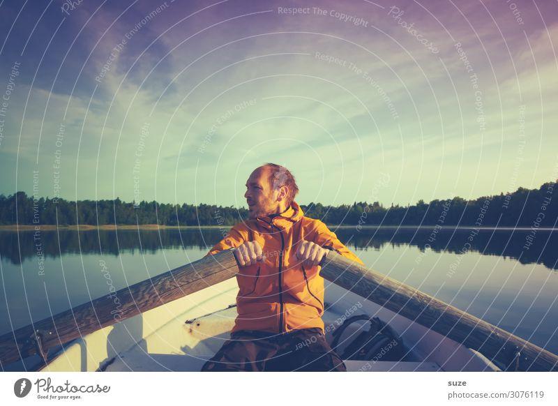 Lövsjön Mensch Ferien & Urlaub & Reisen Natur Mann Sommer Pflanze Landschaft ruhig Gesundheit Umwelt Freiheit See Ausflug Aktion Abenteuer Klima