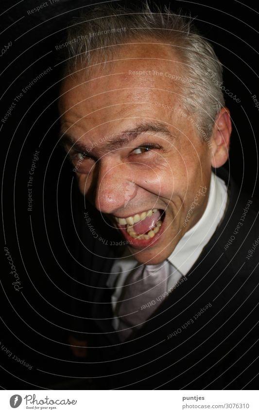 Der neueste Schrei Freude Glück Gesicht Mensch maskulin Leben 1 45-60 Jahre Erwachsene Schauspieler grauhaarig lachen schreien Aggression außergewöhnlich stark