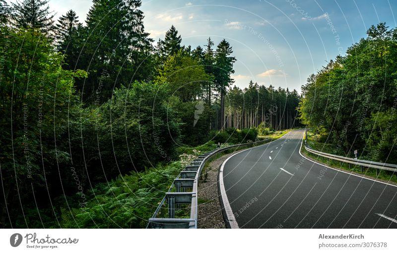 Long Curvy Forest Road In Alpine Mountains Ferien & Urlaub & Reisen Sommer Natur Park Autobahn Motorrad Abenteuer Freiheit Freizeit & Hobby Tourismus mountains