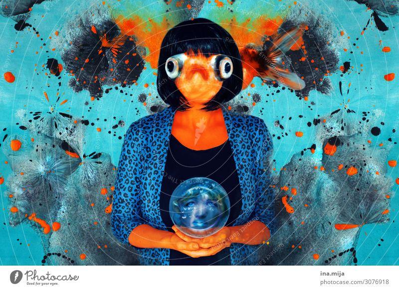 Rollentausch skurril anders Kunst Künstlerisch kreativ Kreativität künstlerisch Farbe Konzept Design farbenfroh Hintergrund zeichnen Malerei abstrakt Mensch
