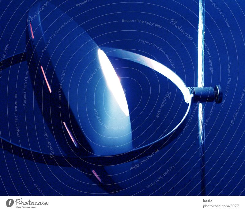 bluelämp_01 Lampe Licht Dinge blau