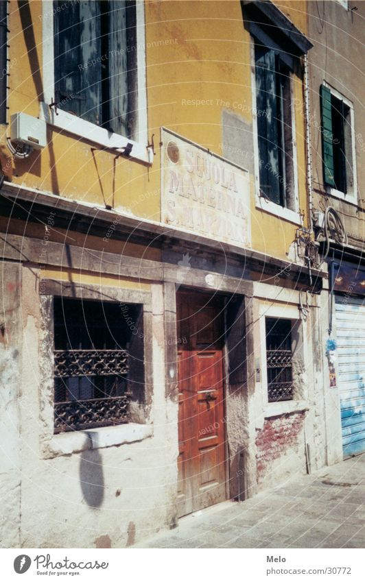 venedig III Haus Fenster Tür Europa Venedig Gasse