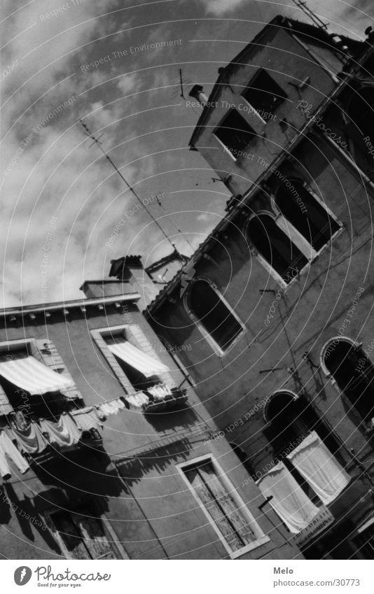 venedig II Haus Europa Wäsche Venedig Italien Häuserzeile