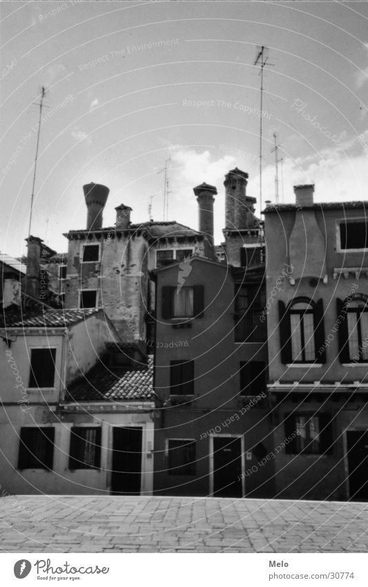 venedig I Haus Europa Platz Antenne Venedig Vorderseite Italien