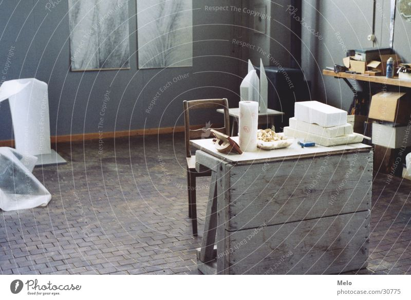 atelier III Kunst Tisch Stuhl Freizeit & Hobby Werkzeug Atelier Hobelbank