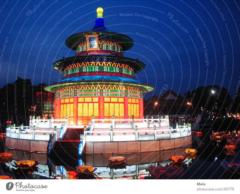 chinesegarden I Singapore Chinesischer Garten Pavillon Nacht Erfolg Beleuchtung