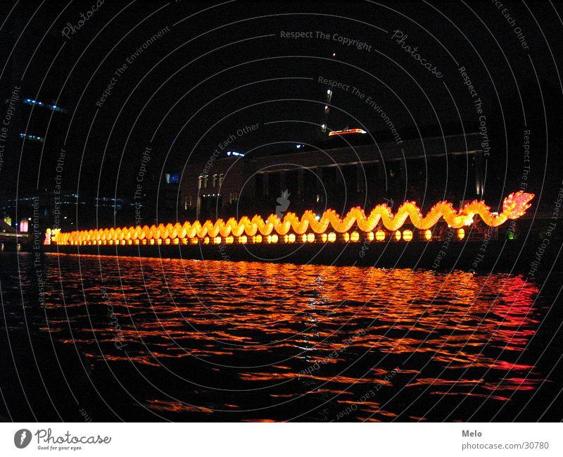 singaporeriver Beleuchtung Erfolg Fluss Drache Singapore