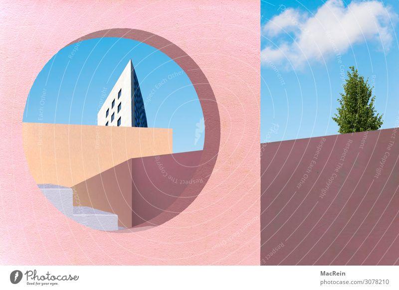 Mediterrane Architektur Haus Bauwerk Gebäude Mauer Wand Treppe Fassade Terrasse modern Ferien & Urlaub & Reisen mediterran Moderne Architektur Durchblick