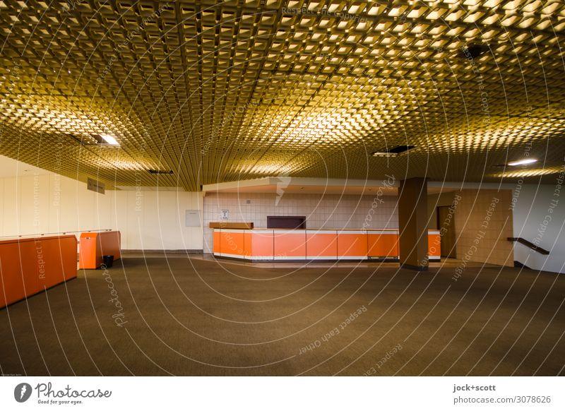 Lobby ruhig Ferne Stil braun Stimmung retro Foyer Berlin-Tempelhof