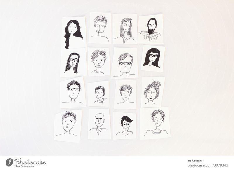 Gesichter Mensch maskulin feminin Junge Frau Jugendliche Junger Mann Erwachsene Weiblicher Senior Männlicher Senior Familie & Verwandtschaft Freundschaft Leben