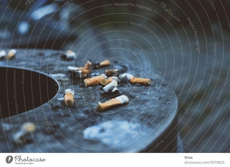 Bäh Zigarettenstummel Zigarettenrauch Ekel ungesund Müll Müllbehälter Aschenbecher umweltschädlich Krebs lungenkrebs Rauchen Tabakwaren Rauchpause