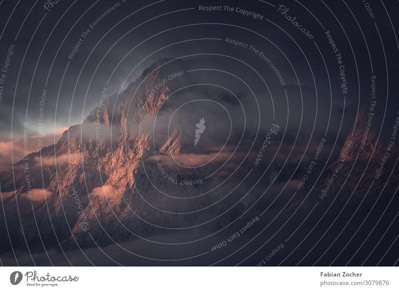Nebelstimmung auf dem Weg auf die Zugspitze Berge u. Gebirge wandern Natur Landschaft Alpen natürlich Stimmung Bayern Deutschland Ehrwald Sommer 2019
