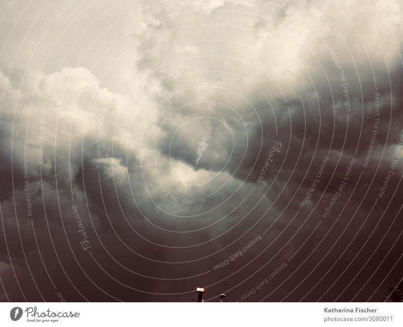 Wolken Wetter Umwelt Himmel nur Himmel Gewitterwolken Frühling Sommer Herbst Winter Klima Klimawandel schlechtes Wetter Unwetter dunkel gigantisch gruselig grau