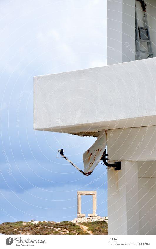 Naxos Ferien & Urlaub & Reisen Landschaft Architektur Wand Mauer Stein Fassade Häusliches Leben Technik & Technologie Telekommunikation Beton Baustelle