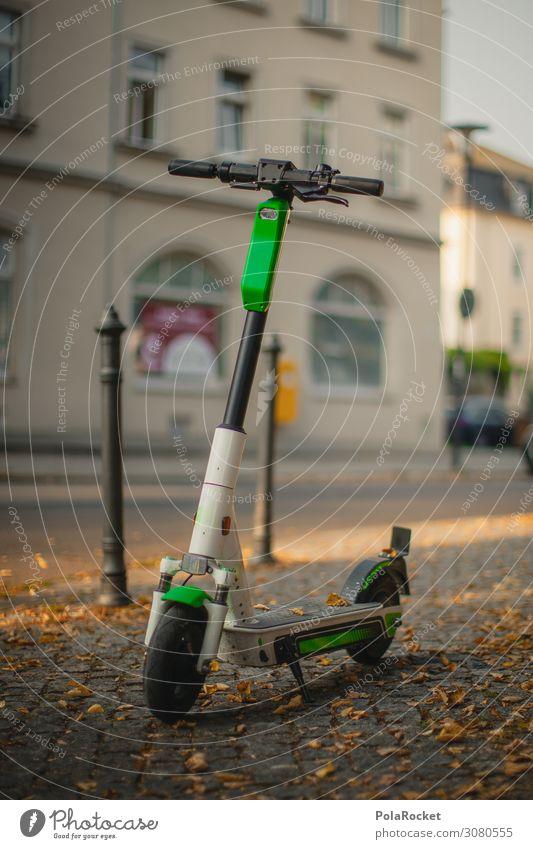 #A# E-Scooter Kunst ästhetisch E-Roller Kleinmotorrad Tretroller Elektronik elektronisch Elektrosmog Batterie Farbfoto Gedeckte Farben Außenaufnahme