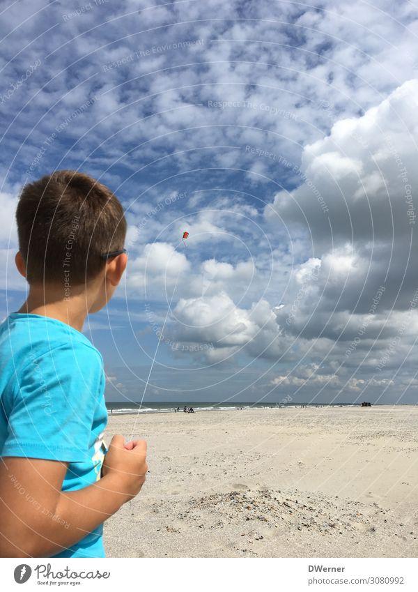 Drachen 2 Lifestyle Freizeit & Hobby Spielen Ferien & Urlaub & Reisen Abenteuer Ferne Sommer Sommerurlaub Sonne Strand Meer Mensch Junge Umwelt Landschaft
