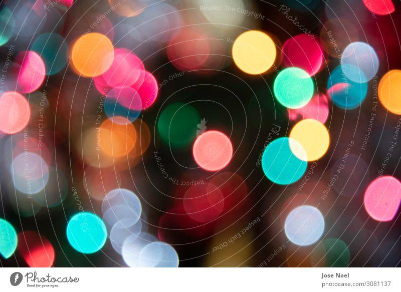 Festliche farbige Lichter leuchtende Kugeln Dekoration & Verzierung Ornament ästhetisch chaotisch Design Einsamkeit einzigartig elegant Endzeitstimmung