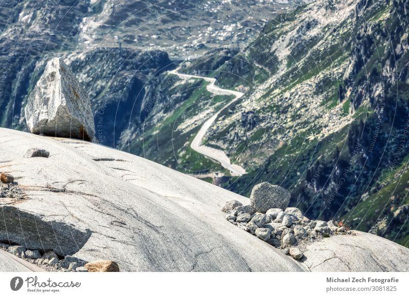Panorama des schmelzenden Rhonegletschers in den Schweizer Alpen schön Ferien & Urlaub & Reisen Tourismus Sommer Schnee Berge u. Gebirge wandern Umwelt Natur