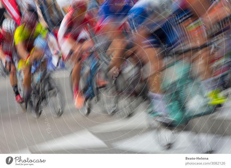 on the road again | Zielsprint Straße Leben Sport Bewegung Freizeit & Hobby wild Fahrrad Erfolg Fahrradfahren Fitness sportlich Sport-Training Euphorie