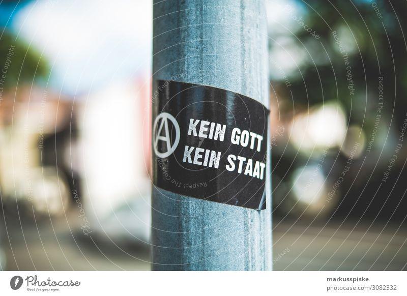 Sticker: Kein Gott - Kein Staat Lifestyle Religion & Glaube sprechen Gefühle Kunst Stimmung träumen Kultur Idee beobachten Jugendkultur Neugier