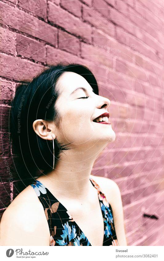 Frau Mensch Natur Jugendliche Junge Frau Sommer schön Freude 18-30 Jahre Gesicht Lifestyle Erwachsene feminin Gefühle Stil Garten