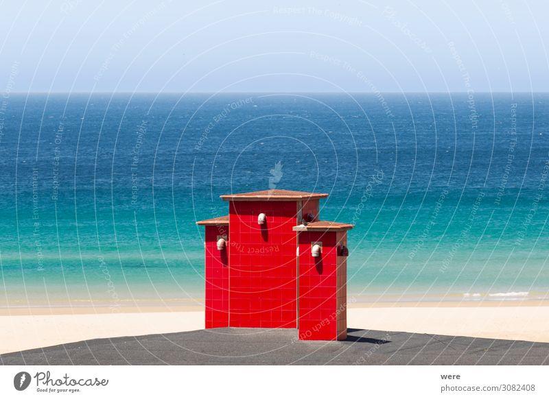 red roof chimneys in front of a deep blue sea Ferien & Urlaub & Reisen Natur Meer Strand Schwimmen & Baden