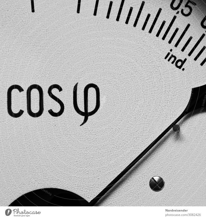 Cosinus phi Wissenschaften Energiewirtschaft Messinstrument Technik & Technologie Erneuerbare Energie Sonnenenergie Energiekrise alt Genauigkeit komplex