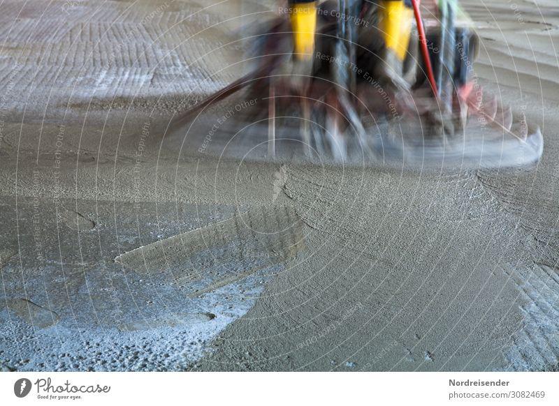 Flügeln von frischem Beton Hausbau Raum Arbeit & Erwerbstätigkeit Beruf Handwerker Arbeitsplatz Baustelle Industrie Dienstleistungsgewerbe Werkzeug Maschine