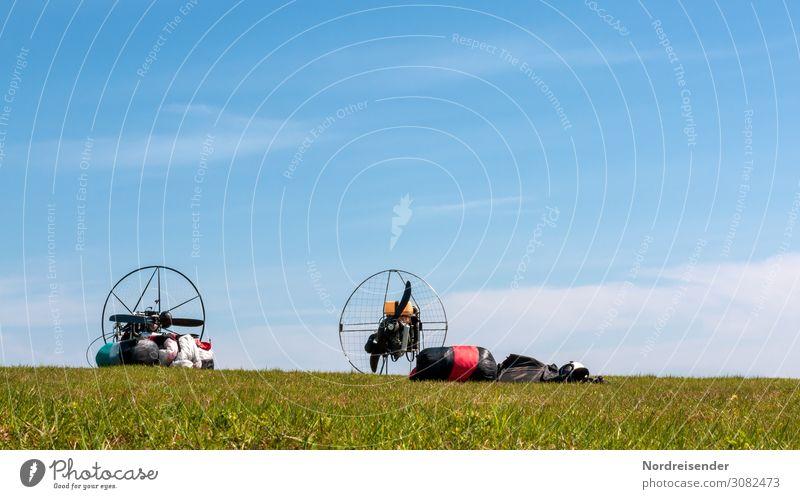 Paragleiter Freizeit & Hobby Freiheit Sport Maschine Motor Technik & Technologie High-Tech Luftverkehr Natur Landschaft Himmel Frühling Sommer Herbst