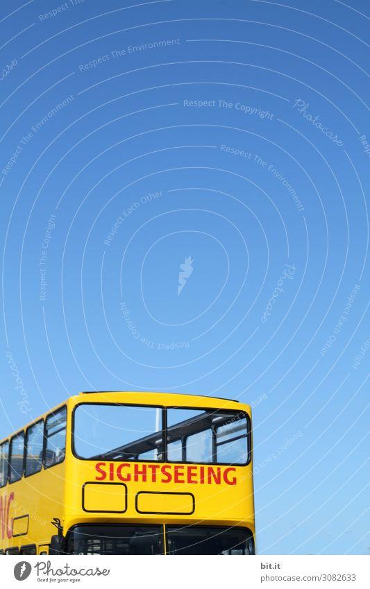 On the Road again l Seightseeing im Bus, bei blauem Himmel Ferien & Urlaub & Reisen Tourismus Ausflug Sightseeing Städtereise Sommer Sommerurlaub Verkehr