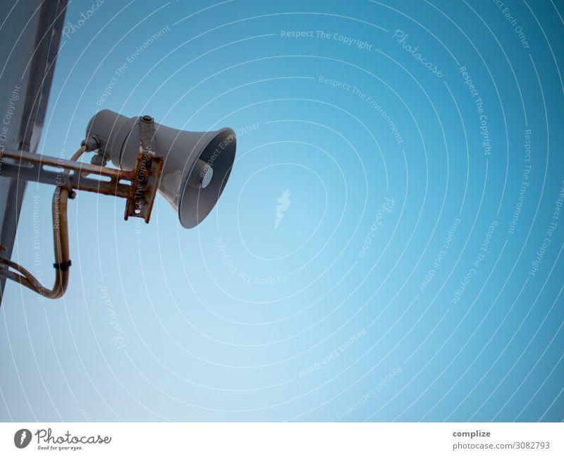 Lautsprecher - Kommunikation Himmel sprechen Feste & Feiern Business Schule Party Büro Kommunizieren Musik Telekommunikation Schönes Wetter Wolkenloser Himmel