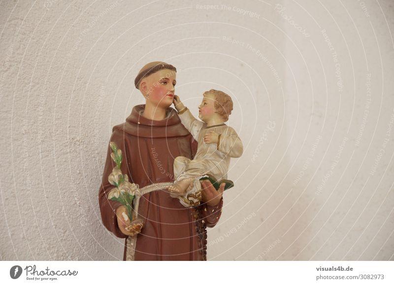 Believe maskulin Kind Baby Kleinkind Erwachsene 2 Mensch Kunst Kunstwerk Skulptur Mantel Glatze Glaube Religion & Glaube heilig Mönch Geistlicher Patron