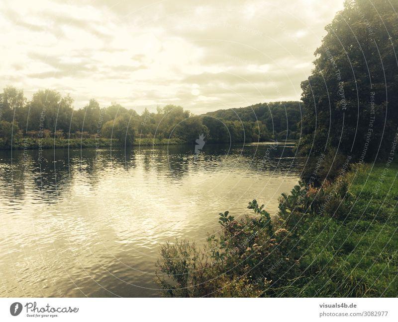 An der Ruhr Himmel Natur Sommer Landschaft Erholung Wald Leben Umwelt natürlich Freiheit Stadt Essen Schwimmen & Baden wandern Fahrradfahren Fahrradtour Fluss