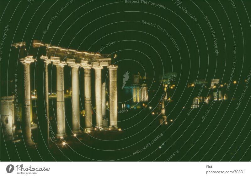 Forum Romanum Nacht Langzeitbelichtung Europa Athmosphäre antik Beleuchtung