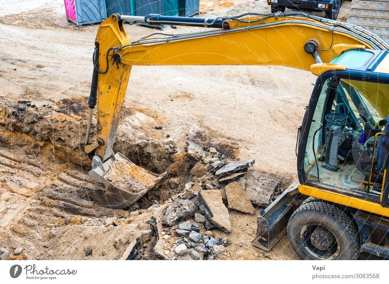 Bulldozer auf der Baustelle Freizeit & Hobby Expedition Hausbau Arbeit & Erwerbstätigkeit Beruf Industrie Energiewirtschaft Business Werkzeug Maschine