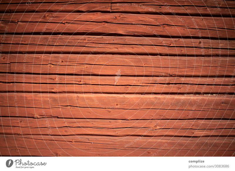 Alte Finnische Holzwand rot Haus Hintergrundbild Wand Häusliches Leben Wohnung Freizeit & Hobby Raum Baustelle altehrwürdig Handwerk Hausbau