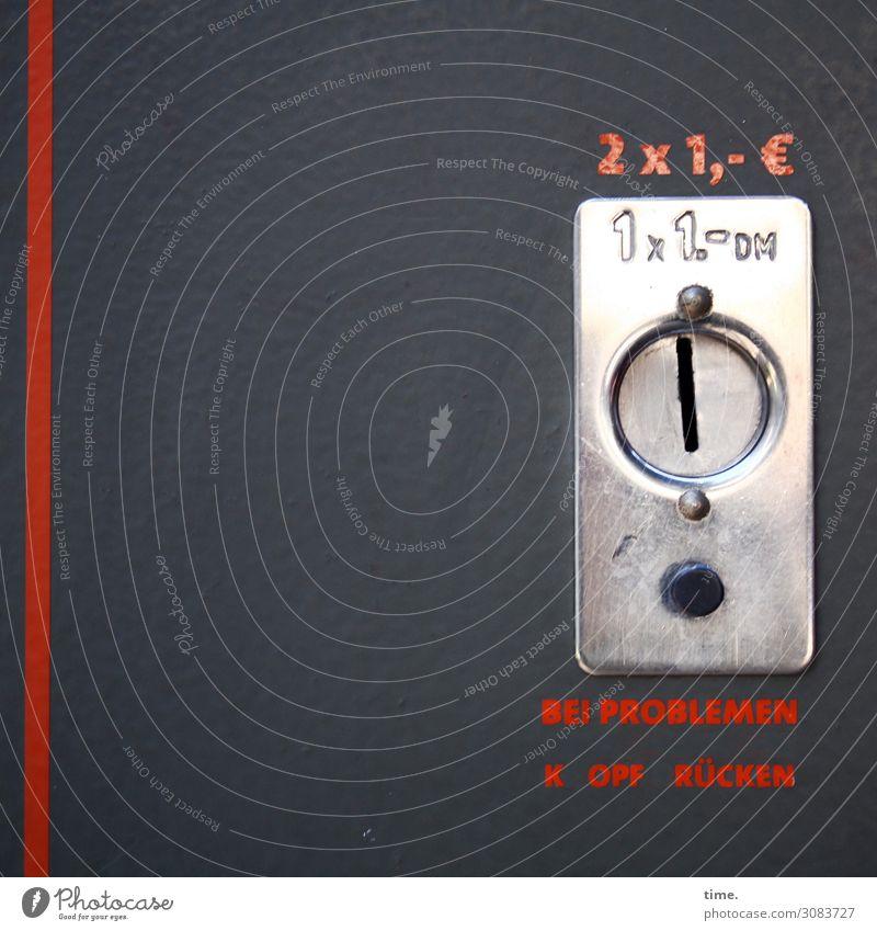 Preisanstieg Maschine Automat Schlitz Geldmünzen Technik & Technologie Unterhaltungselektronik Metall Zeichen Schriftzeichen Ziffern & Zahlen Hinweisschild